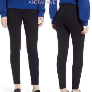 HALOGEN Skinny Ponte Knit Pants Black